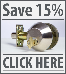 15% locksmith Coupons
